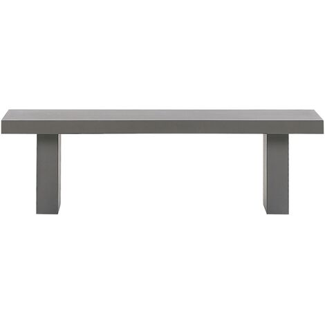Raw Concrete Outdoor Bench 150 x 40 cm Grey TARANTO