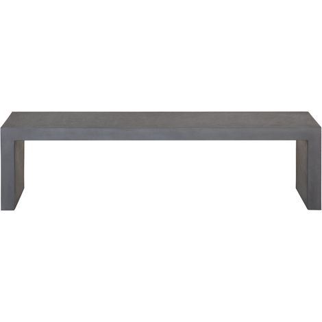 Raw Concrete Outdoor Bench Grey TARANTO