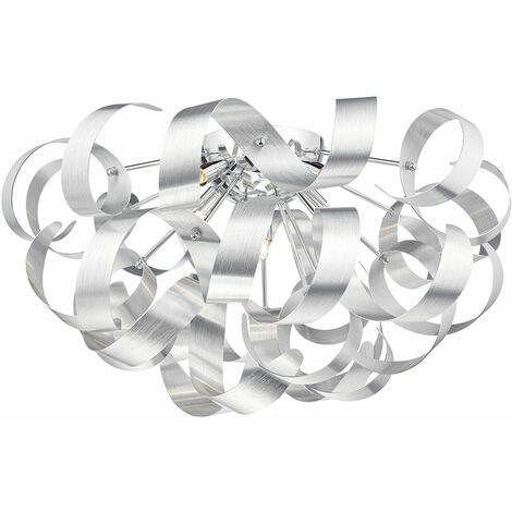 Rawley brushed aluminum and polished chrome 5-light ceiling light
