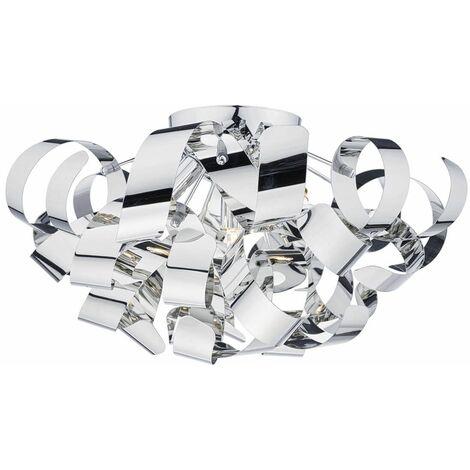 Rawley polished chrome and polished chrome 5-light ceiling light
