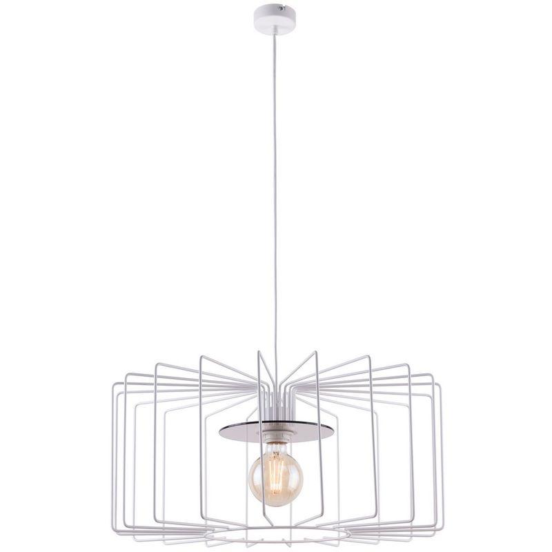 Homemania - Ray Haengelampe - Kronleuchter - Deckenkronleuchter - Weiss aus Metall, 56 x 56 x 100 cm, 1 x E27, Max 60W