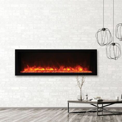 Rayburn Stratus Electric Inset Wall Mounted Fire Heater Heating Effect Remote
