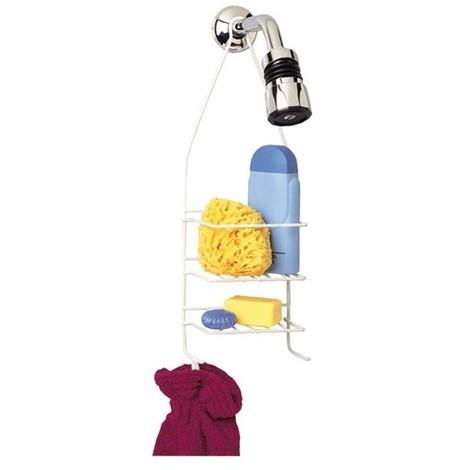 RAYEN - Serviteur de douche porte accessoires - fil blanc
