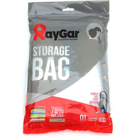 RayGar Vacuum Storage Bags 6 Pack of 100x80cm for Compressed Space Saving - Large
