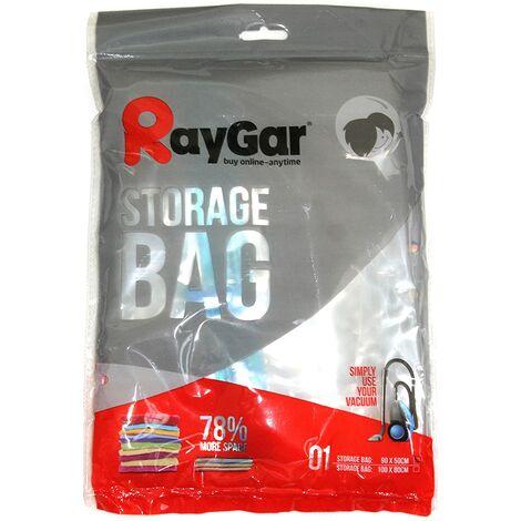 RayGar Vacuum Storage Bags 6 Pack of 90x50cm for Compressed Space Saving - Medium