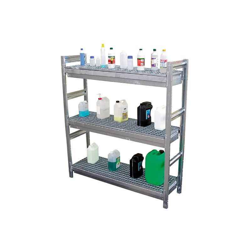 Manutention De Futs-matisere - A. Élément de départ : 2 échelles + 3 niveaux - Rayonnage de rétention 1800x1520x510mm