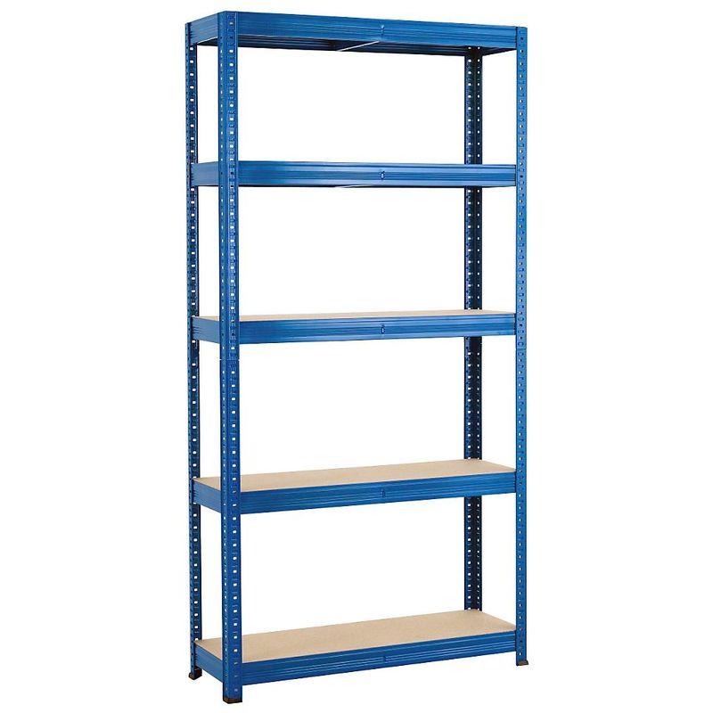 Rayonnage emboîtable bleu - charge max. 265 kg - Rayonnage emboîtable, l x p 900 x 300 mm - Coloris montants: bleu
