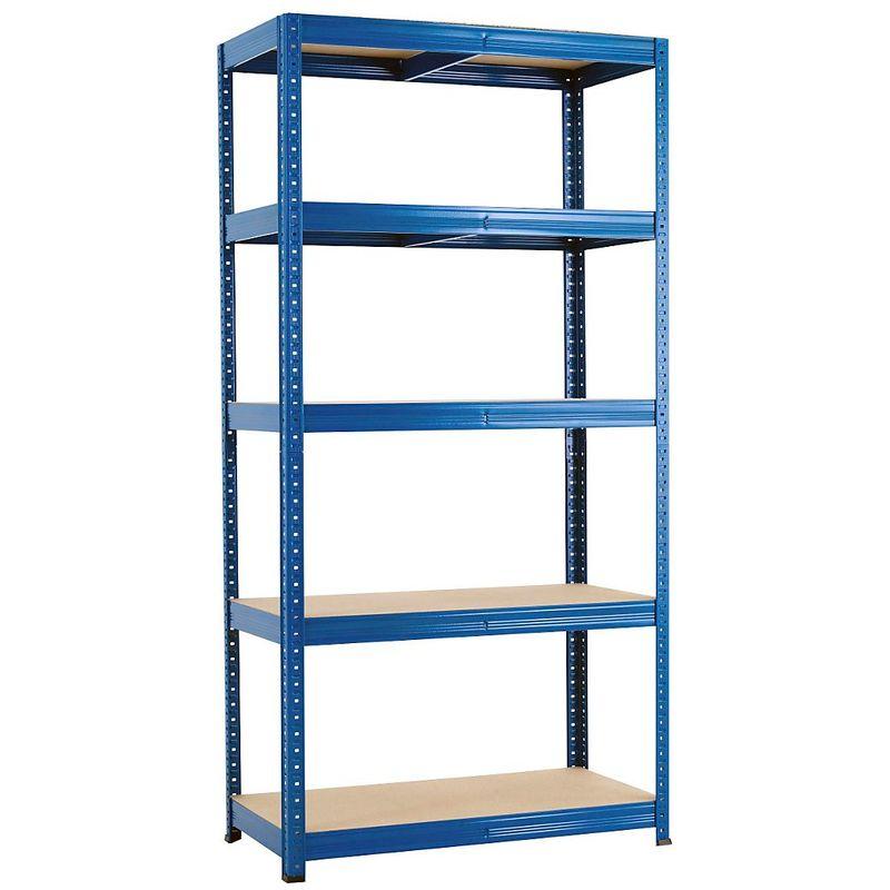 Rayonnage emboîtable bleu - charge max. 265 kg - Rayonnage emboîtable, l x p 900 x 450 mm - Coloris montants: bleu
