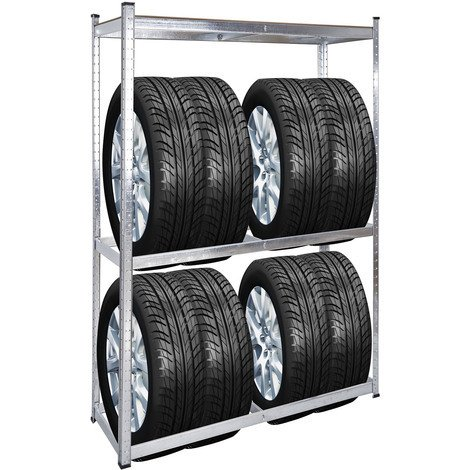 Rayonnage pour pneus Rack à pneus 180x120x40cm Etagère d'atelier Charge lourde Stockage