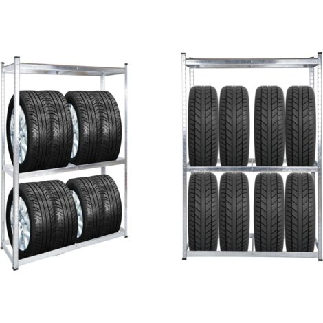 Rayonnage rack support pour 8 pneus