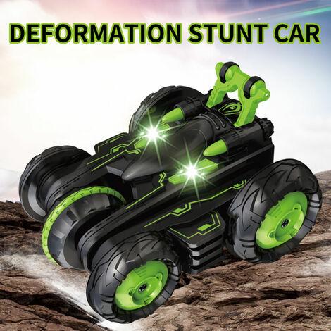 Rc Stunt Car 2.4Ghz 3D Rotating Drift Stunt Car Escalade Drift Buggy Voiture Deformation Flip Enfants Robots electriques Garcon Jouets