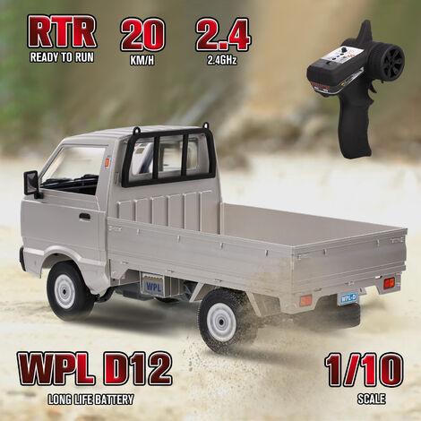 Rc Truck 2.4Ghz Voiture Rc 1/10 Rc Toy Rtr Voiture Cadeau Pour Les Adultes Enfants Garcons Moyen Moteur D'Entrainement Arriere