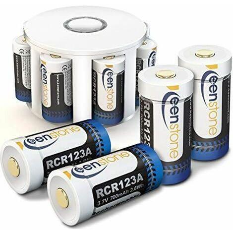 RCR123A CR123A 17345 Batterie Rechargeable 8pcs pour Arlo Caméra VMS3030/3130/3230/3330/3430 Keenstone Piles Li-ION Chargeur