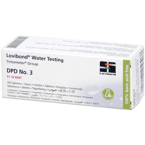 Réactif DPD3 (100 pastilles) testeur électronique Scuba - Lovibond