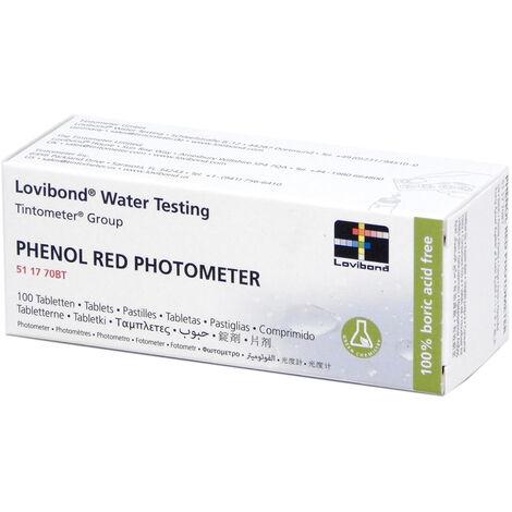 Réactif rouge de phénol (100 pastilles) testeur électronique Scuba - Lovibond