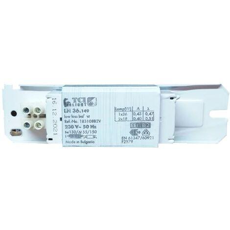 Reactor electromecánico TCI para lámparas fluorescentes de 36W-40W 183108B2V