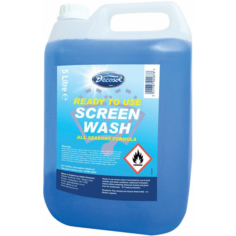 Image of AD6LRM Ready Mixed Screenwash 5 Litre - Decosol
