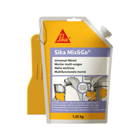 Ready-to-mix repair mortar - SIKA Mix & Go - Grey - 1,25kg