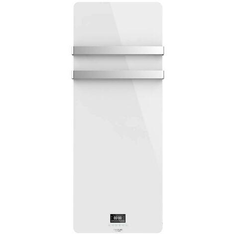 Toallero eléctrico de cristal ready warm 9870 crystal towel, bajo consumo, potencia 850w, temporizador semanal, termostato, ceco