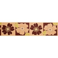 Readyroll Wallpaper Self Adhesive Border Living Room and Bedroom Wallpaper Border Flowerburst Mocha and Green 30462