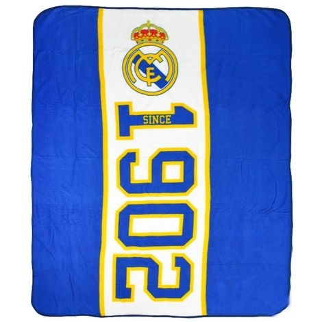 Real Madrid CF Established Fleece Blanket (One Size) (Blue)