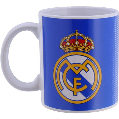 Real Madrid FC Halftone Mug (One Size) (Multi Coloured)