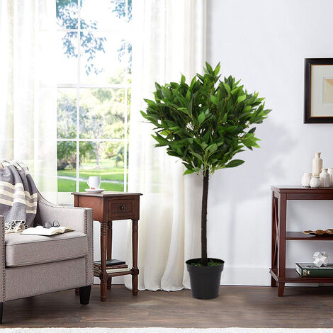 Realistic Large Artificial Potted Topiary Laurel Tree