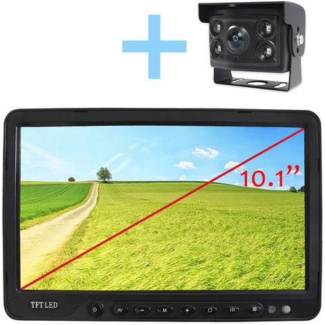 """Rear View and Reverse View System Yatek pour tous les types de véhicules, écran LCD 10,1"""", avec caméra à 170° et vision nocturne."""