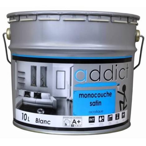 Peinture Acrylique Satin Monocouche 10l Blanc 5161cd0025