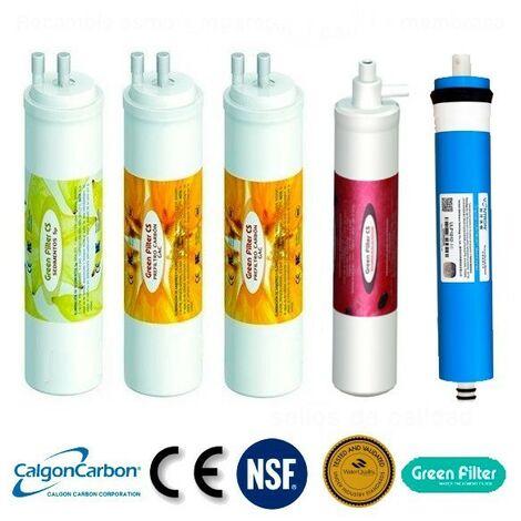 Recambio de Filtros con membrana Osmosis tipo CS