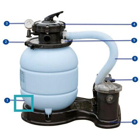 Recambio tapón desagüe filtro y junta FS300/400 GRE TAPONFS300