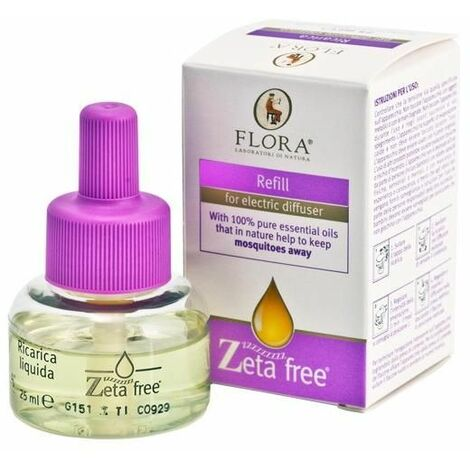 Recarga difusor eléctrico antimosquitos Flora 25 ml