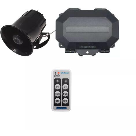 """main image of """"Récepteur extérieur armable sans fil 800m avec sirène 118dB 6 tons & télécommande - 2 ZONES temporisées (PROTECT 800)"""""""