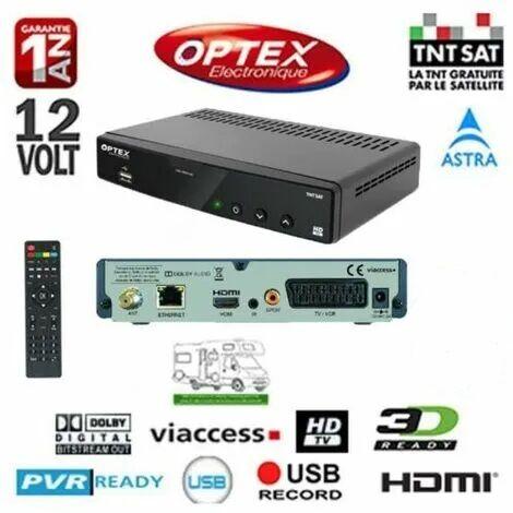 RECEPTEUR NUMERIQUE TNTSAT HD OPTEX ORS9989-HD - 12 VOLTS (SANS CARTE TNTSAT)