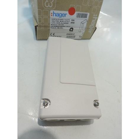 Récepteur radio 1 sortie pour volets roulants / store 10A IP55 KNX Quicklink TEBIS HAGER TRE221