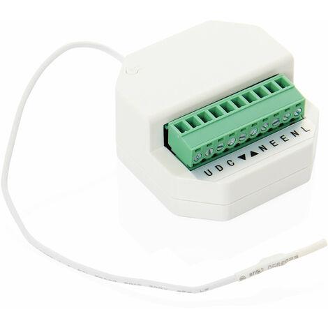 Récepteur radio encastrable pour moteur volet filaire toute marque - Blanc