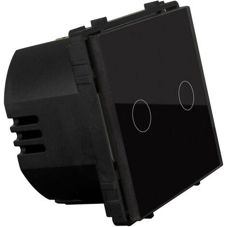 Récepteur Tactile Double Modern Noir - Noir