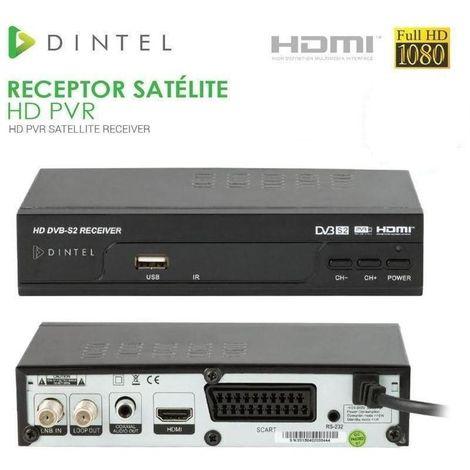 Receptor Satélite HD PVR Dintel USB HDMI