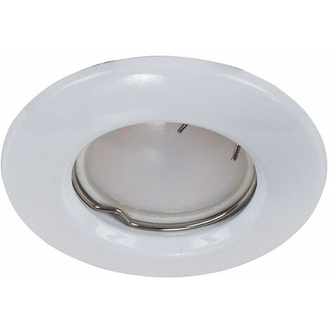 Recessed GU10 Ceiling Downlight - Gloss White - White