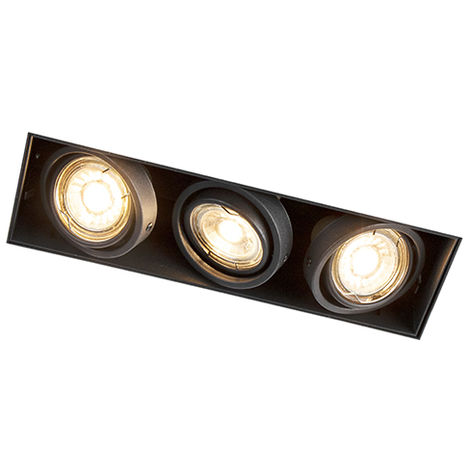 Recessed Spotlight Black Trimless - Oneon3