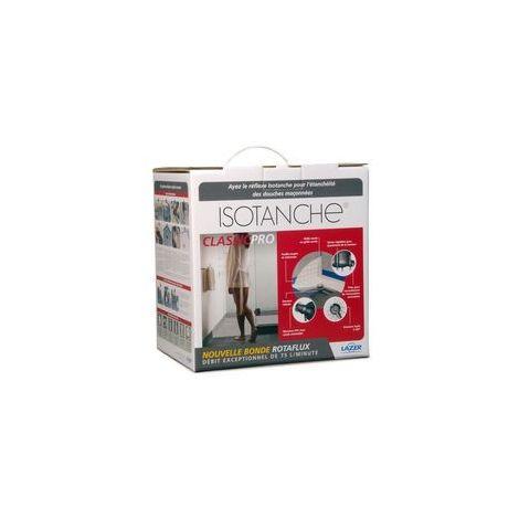 Receveur à carreler avec feuille PVC souple bonde verticale grille Target carrée CLASSIC PRO 200 x 180 cm
