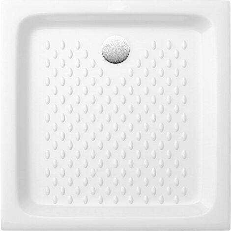 Receveur à encastrer VERSEAU2 90 x 90 cm Grès blanc ALTERNA