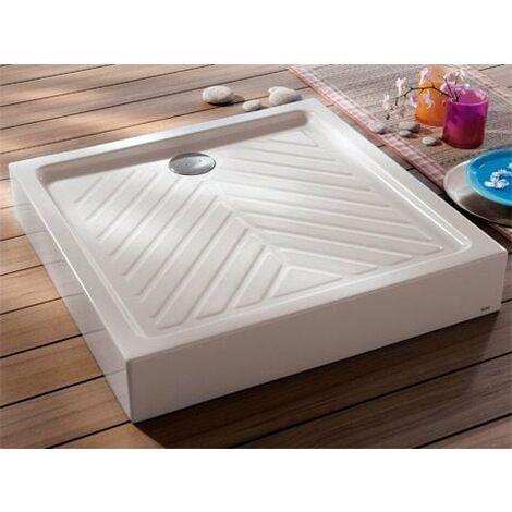 Receveur a poser carre GEBERIT, sureleve, extra-plat PRIMA devient RENOVA 80 x 80 cm, ceramique, blanc Ref. 00716100000 GEBERIT