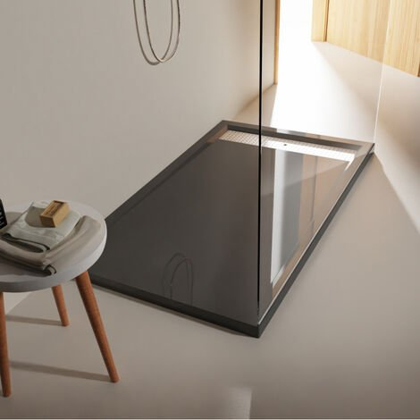 Receveur a poser gris anthracite 80x140cm