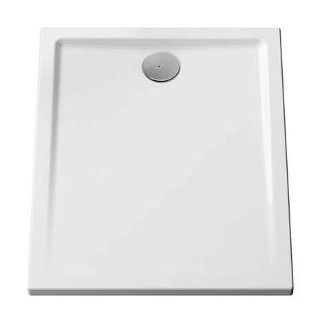 Receveur Belo - Ultra-plat - 100x80cm - Blanc