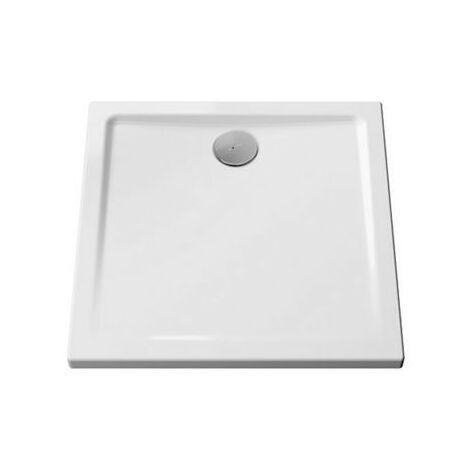 Receveur Belo - Ultra-plat - 80x80cm - Blanc