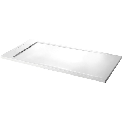 Receveur blanc 80X160 extra-plat solid surface