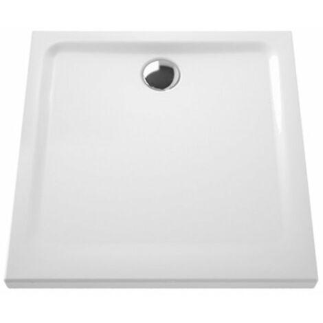 Receveur carré grès extraplat Ancoswing 2 - blanc