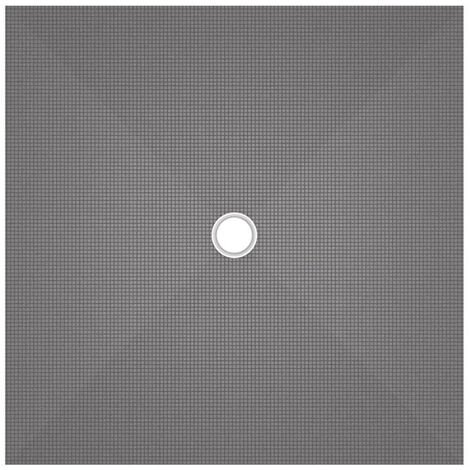 Receveur carré à écoulement centré - Wedi