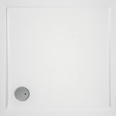 Receveur carre EVREN acrylique 1000x1000x55 mm pour bonde de 90 mm